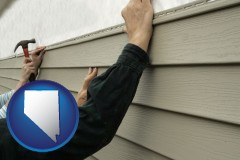 nevada installing vinyl siding on a house