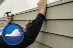 Virginia - installing vinyl siding on a house