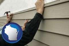 wisconsin installing vinyl siding on a house